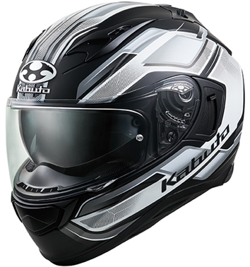 オージーケーカブト(OGK KABUTO)バイクヘルメット フルフェイス KAMUI3 ACCEL(アクセル) フラットブラックホワイト Mサイズ