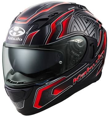 オージーケーカブト(OGK KABUTO)バイクヘルメット フルフェイス KAMUI3 CIRCLE(サークル) フラットブラックレッド Mサイズ
