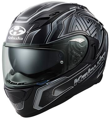オージーケーカブト(OGK KABUTO)バイクヘルメット フルフェイス KAMUI3 CIRCLE(サークル) フラットブラックシルバー Mサイズ
