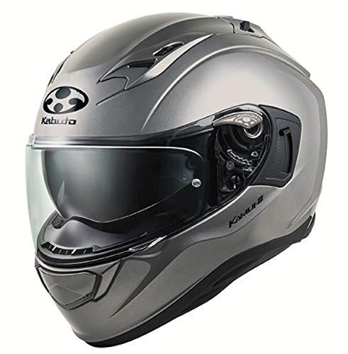 オージーケーカブト(OGK KABUTO)バイクヘルメット フルフェイス KAMUI3 クールガンメタ Sサイズ