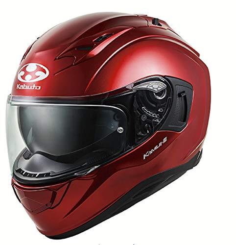 オージーケーカブト(OGK KABUTO)バイクヘルメット フルフェイス KAMUI3 シャイニーレッド Lサイズ