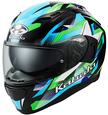 オージーケーカブト(OGK KABUTO)バイクヘルメット フルフェイス KAMUI3 STARS(スターズ) ブラックグリーン XLサイズ