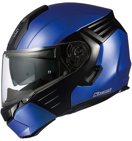 オージーケーカブト(OGK KABUTO)バイクヘルメット システム KAZAMI フラットブルー/ブラック Lサイズ
