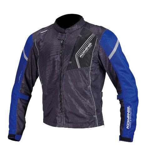 コミネ(KOMINE) JK-128 プロテクトフルメッシュジャケット Black/Blue XLサイズ