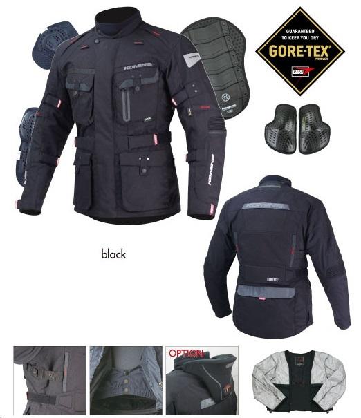 コミネ(KOMINE) JK-562 GTX ウインタージャケット-ヴェーダ Black Sサイズ