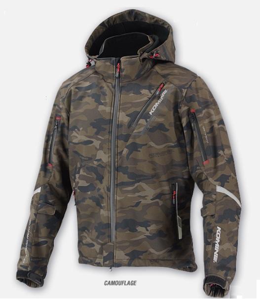 コミネ(KOMINE) JK-579 プロテクトソフトシェルウィンターパーカ-イフ Camouflage 3XLサイズ
