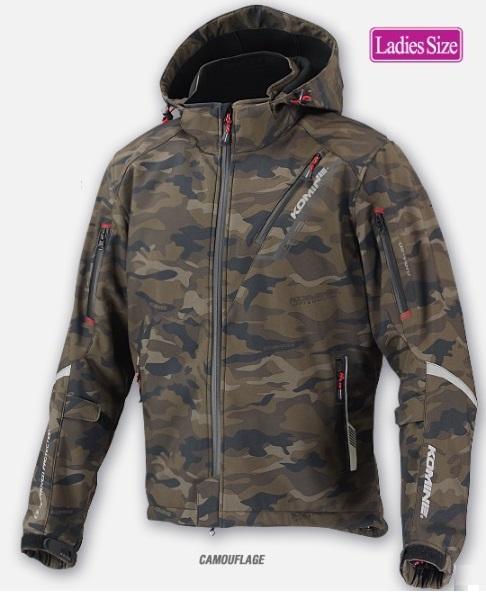 コミネ(KOMINE) レディース/JK-579         プロテクトソフトシェルウィンターパーカ-イフ Camouflage WMサイズ