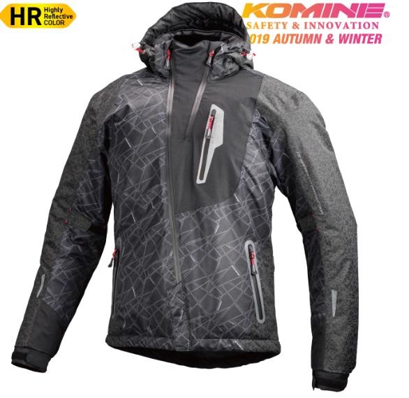 コミネ(KOMINE) JK-589 プロテクトウインターパーカ HR-Black XLサイズ