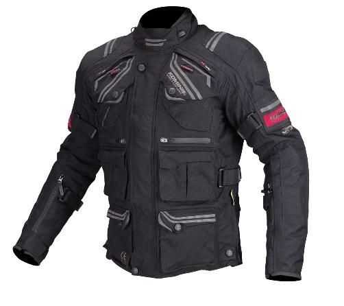 コミネ(KOMINE) JK-593 プロテクトフルイヤーツーリングジャケット Black 3XLサイズ