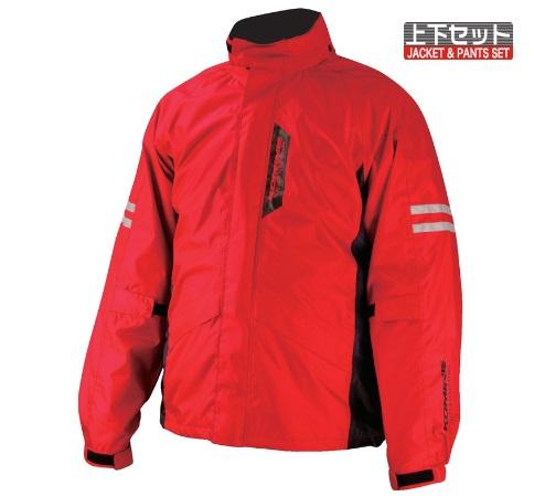 透湿防水素材ブレスター採用のシンプルで快適なレインウェア コミネ KOMINE RK-539 Red 予約販売品 フィアート ブレスターレインウェア 2XLサイズ 売り込み