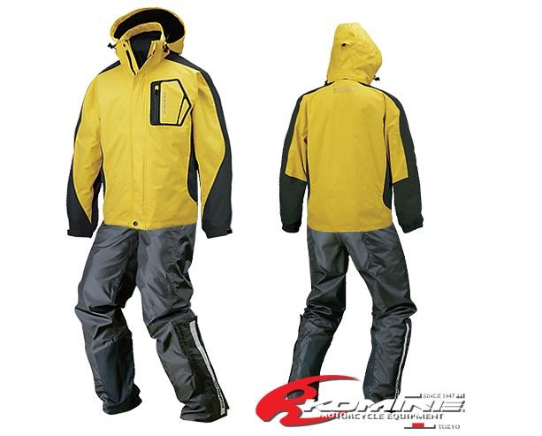 コミネ(KOMINE) RK-540 ブレスター 2-in-1 レインスーツ Yellow Sサイズ