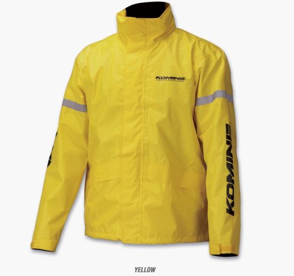 シンプルな構成でお求めやすい価格のレインウェア上下セット コミネ KOMINE RK-543 驚きの値段 日本製 STDレインウェア XLサイズ Yellow