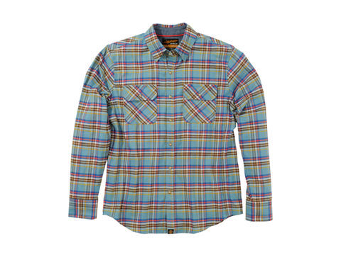NHB1504 ネルシャツ サックスブルー L