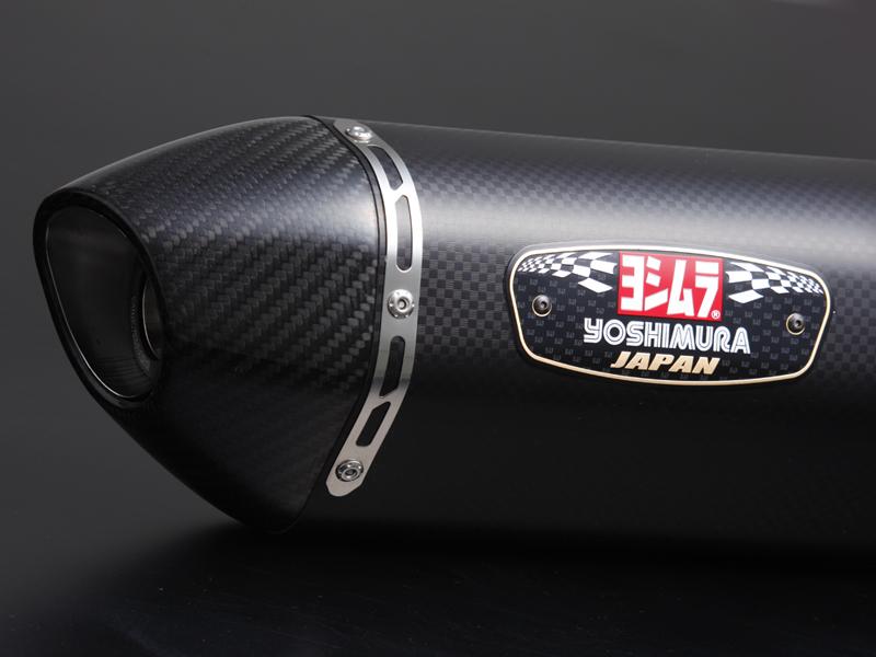 ヨシムラ バイクマフラー スリップオン R-77 サイクロン 政府認証 SMC メタル マジックカバー/カーボンエンド ADDRESS V125/G(G 09) ADDRESS V125S(10 EBJ-CF4MA)