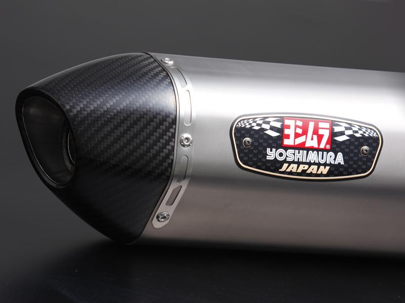 ヨシムラ バイクマフラー スリップオン R-77 サイクロン 政府認証 STC チタンカバー/カーボンエンド ADDRESS V125/G(G 09) ADDRESS V125S(10 EBJ-CF4MA)