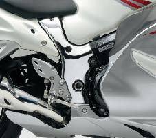 オートリメッサオリジナル HAYABUSA1300 08- フレームカバー 樹脂クロムメッキ 左右セット 貼付けタイプ