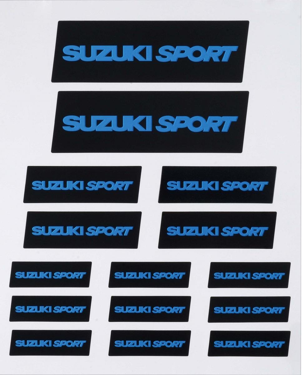 SUZUKI SPORT 待望 ロゴがステッカーになって登場 1シートに複数サイズご用意 ステッカー プレミアムステッカー バイクに車に自転車に用途は無限大 訳あり スズキスポーツ