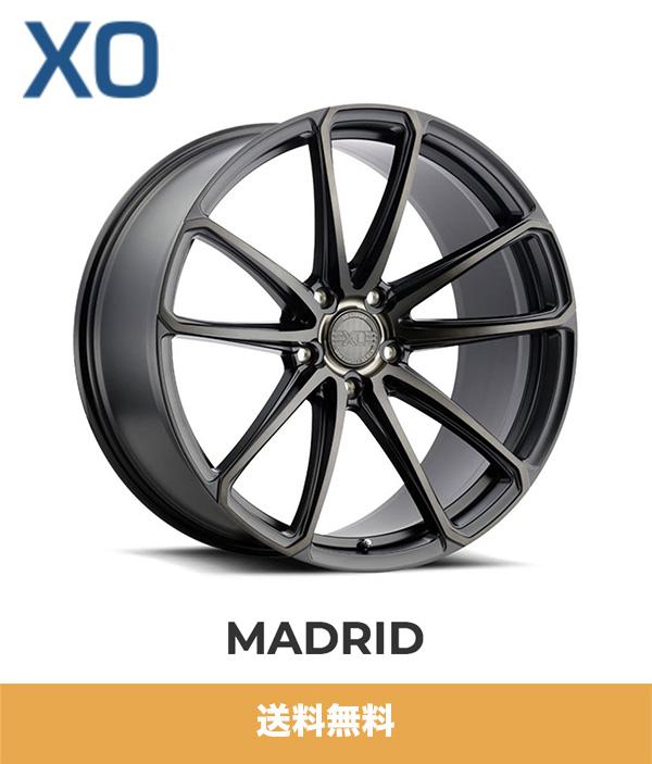 テスラモデルX用 XO マドリード 20x9.5J PCD 5x120 マットブラックティントフェイス TESLA MODEL X XO LUXURY MADRID MATTE BLACK W/MILLED SPOKE & BRUSHED TINTED FACE ホイール4本セット (送料無料)