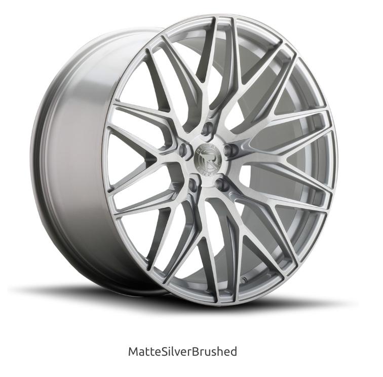 ロマノRFR03(ROMANO RFR03) 20x9J Matte Silver Brushed/マットシルバーブラッシュ色ブランクホイール4本セット (送料無料)