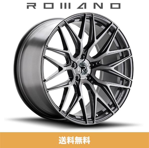 ロマノRFR03(ROMANO RFR03) 19x8.5J フロント 19x9.5J リア Titanium Brushed/チタニウムブラッシュ色ブランクホイール4本セット (送料無料)