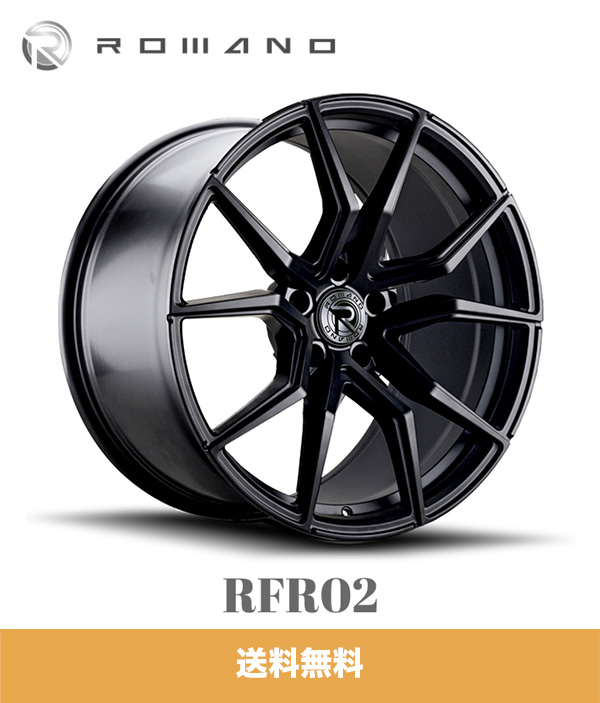 テスラモデルX用 XO ロマノ RFR02 20x9J PCD 5x120 マットブラック TESLA MODEL X ROMANO RFR02 MATTE BLACK ホイール4本セット (送料無料)