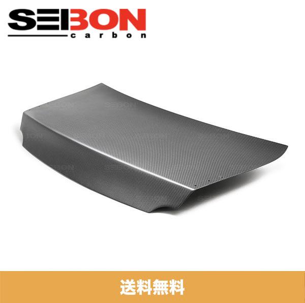 SEIBON アメリカメーカー高品質 日産 GT-R / NISSAN GT-R 2009-2019年モデル用 カーボンファイバーMSスタイルドライカーボントランクリッド / MS-STYLE DRY CARBON TRUNK LID (ドライカーボン製品はマット仕上げです。)(送料無料)