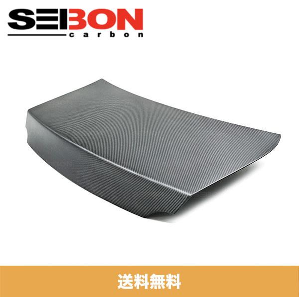 SEIBON アメリカメーカー高品質 日産 GT-R / NISSAN GT-R 2009-2020年モデル用OEMスタイルドライカーボントランクリッド / OEM-STYLE DRY CARBON TRUNK LID (スポイラー用穴なし)(送料無料)(ドライカーボン製品はマット仕上げです。)