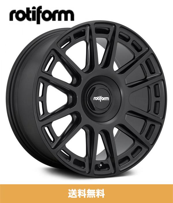 19インチホイール4本セット ロティフォーム Rotiform OZR マットブラック Matte Black 19x8.5J フロントリア PCD 5x112 ホイール4本セット (送料無料)