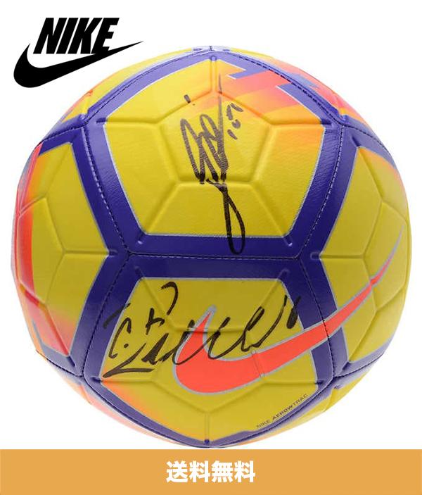 リオネル・メッシ / クリスティアーノ・ロナウド 直筆サイン入りナイキサッカーボール Lionel Messi / Cristiano Ronaldo Autographed Nike Soccer Ball (送料無料)