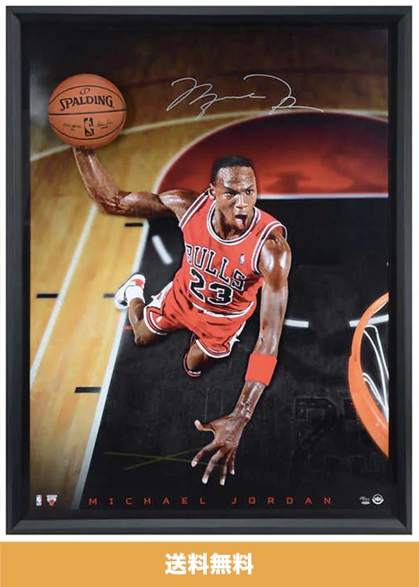 マイケル・ジョーダン直筆サイン入り額入り写真 (112 cm x 153 cm) Michael Jordan Autographed Framed Picture (送料無料)