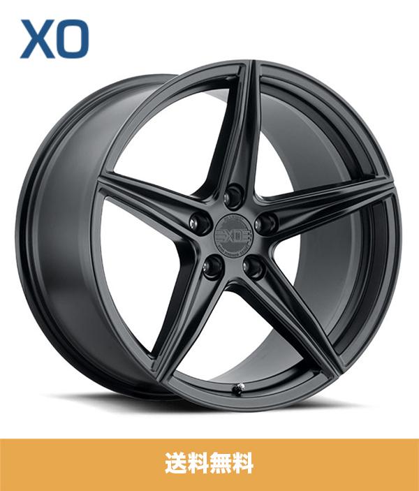 BMW X5用 XO エックスオー オークランド 20x9J マットブラック フロントリア PCD 5/112 ET 20 XO AUCKLAND 20x9J Matte Black ホイール4本セット (送料無料)