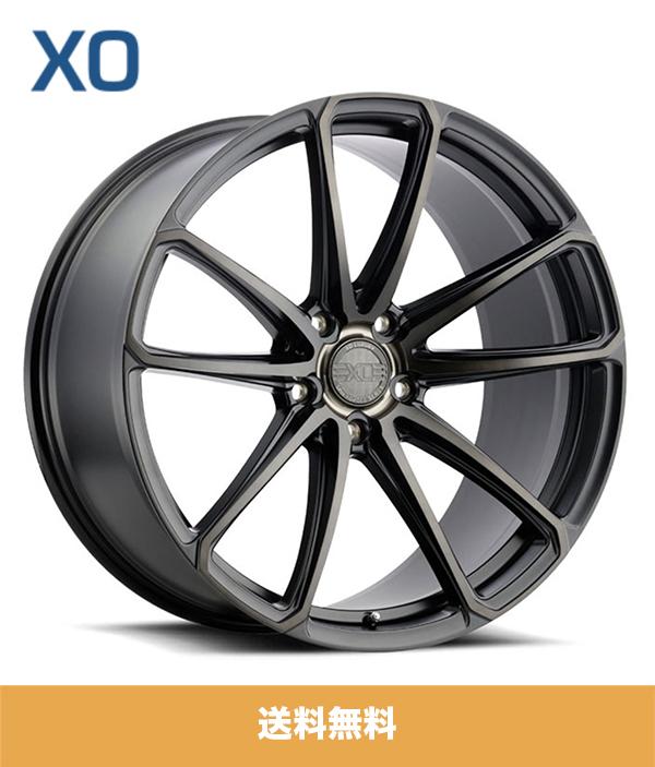 BMW X5用 XO エックスオー マドリード 22x9J マットブラックブラッシュドティントファイス PCD 5/112 ET 20 XO Madrid 22x9J Matte Black Brushed Tinted Face フロントリアホイール4本セット (送料無料)