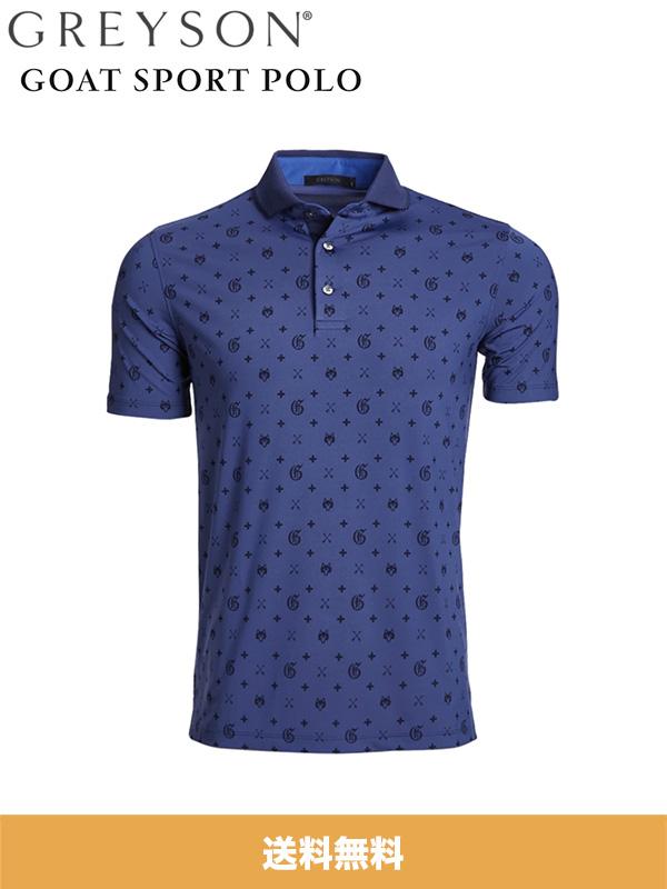 GREYSON (グレイソン) ゴルフ用ポロシャツ GOAT SPORT POLO (アメリカサイズ S、M、L あり) (送料無料)