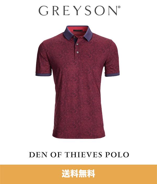 グレイソン ポロシャツ GREYSON DEN OF THIEVES POLO (アメリカサイズ S1枚) (送料無料)