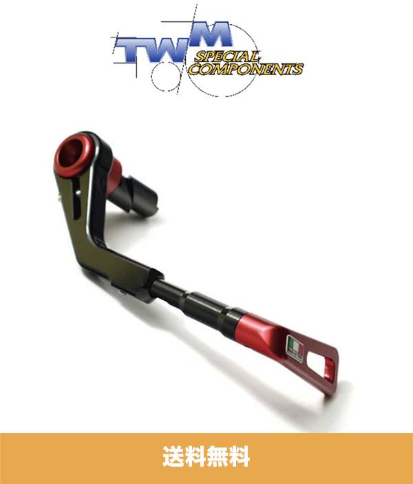 ホンダ CBR1000RR HONDA CBR1000RR用 TWM ブレーキレバーガード レッド (バーエンド2個付き) TWM BRAKE LEVER GUARD RED (送料無料)