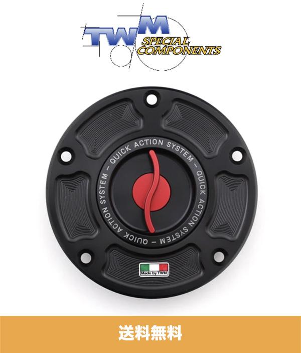 ドゥカティ Xディアベル / S (全ての年式) DUCATI XDIAVEL / S 用 CNCアルミニウムガスキャップ レッド TWM QUICK ACTION CNC ALUMINUM GAS CAP FOR DUCATI RED (送料無料)