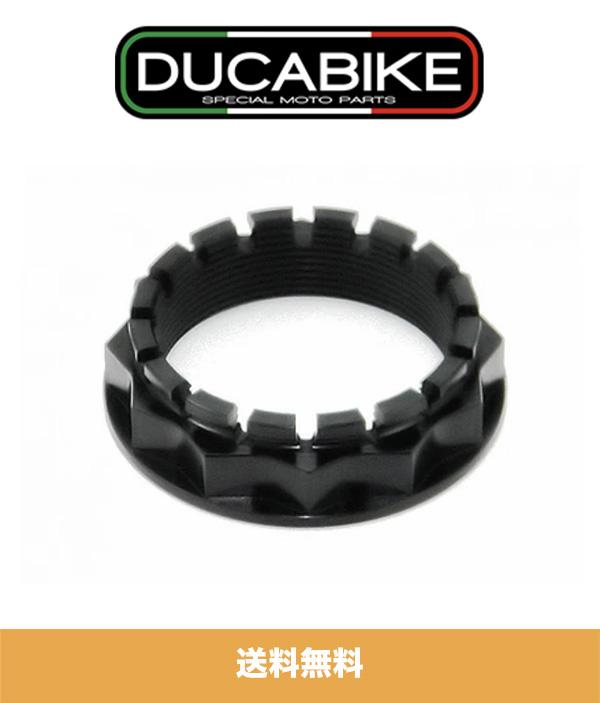 ドゥカティ パニガーレ V4S用 ドゥカバイク DUCABIKE リアスプロケット キャリアナット ブラック1個 DUCABIKE REAR SPROCKET CARRIER NUT BLACK FOR DUCATI PANIGALE 1199 1299 V4 (送料無料)