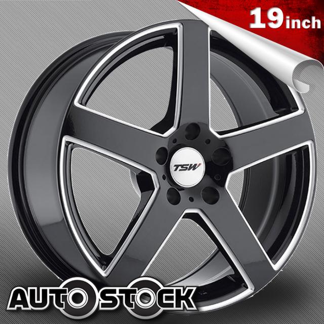 TSW RIVAGE (リヴァージュ) 19インチ タイヤ・ホイールSET Gloss Black w/ Milled Spokes (グロスブラック/ミルドスポーク) 【送料無料】【タイヤホイールセット】【TSW Wheel ホイール】