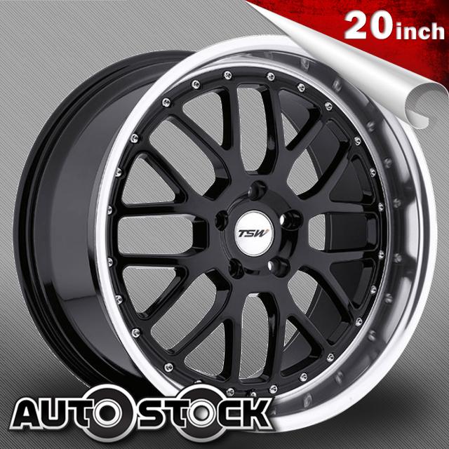 TSW VALENCIA (ヴァレンシア) 20インチ タイヤ・ホイールSET Gloss Black w/ Mirror Cut Lip (グロスブラック/ミラーカットリップ) 【送料無料】【タイヤホイールセット】【TSW Wheel ホイール】