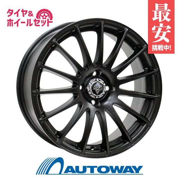 175/65R15 サマータイヤ タイヤホイールセットHRS H-290 15x6.5 +45 100x4 MATT BLACK + 209 【送料無料】 (175-65-15 175/65/15)夏タイヤ 15インチ