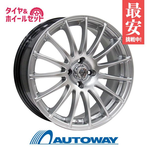 195/45R16 サマータイヤ タイヤホイールセットHRS H-290 16x7 +40 100x4 HP-SILVER + Rivera Pro 2 【送料無料】 (195-45-16 195/45/16)夏タイヤ 16インチ