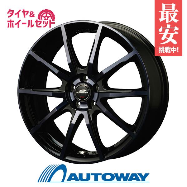 215/45R18 サマータイヤ タイヤホイールセット 【送料無料】ATECH SCHNEIDER DR-01 18x7.0 +48 114.3x5 BKP+DBC + HF805 (215-45-18 215/45/18)
