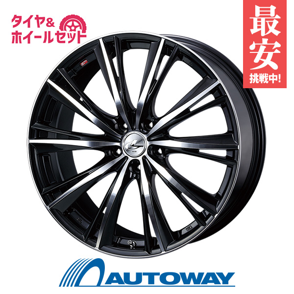 215/50R17 サマータイヤ タイヤホイールセット  LEONIS WX 17x7 +53 114.3x5 BKMC + F205 【送料無料】 (215/50/17 215-50-17 215/50-17) 夏タイヤ 17インチ