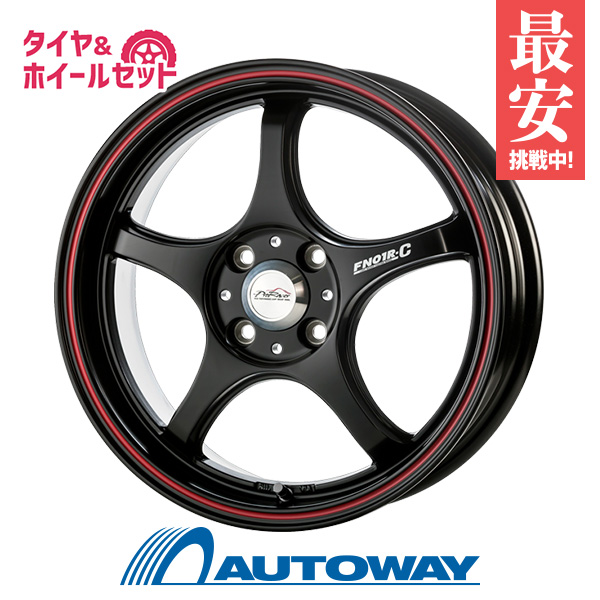 【送料無料】165/55R14 サマータイヤ タイヤホイールセットPRO RACER FN01R-Cα 14x5.0 +45 100x4 BK/RED LINE + ECO-2 +(Plus) (165-55-14 165/55/14)