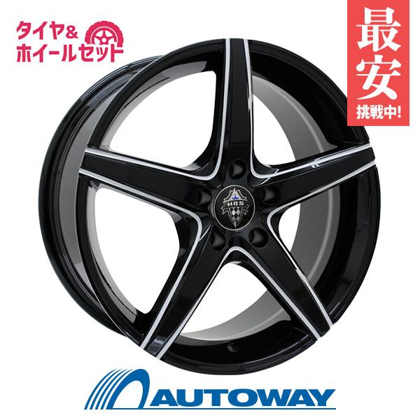 215/45R17 サマータイヤ タイヤホイールセット  HRS H-730 17x7 +45 100x5 BK-VW-M + F205 【送料無料】 (215/45/17 215-45-17 215/45-17) 夏タイヤ 17インチ