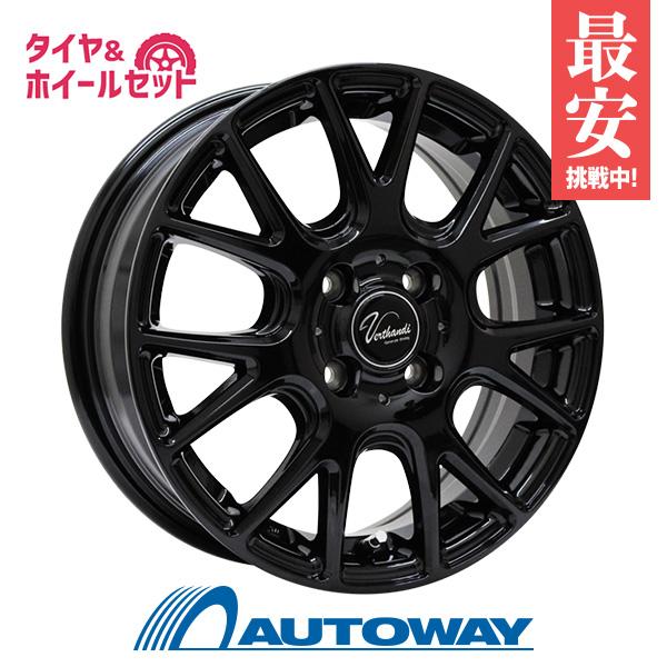 185/60R15 サマータイヤ タイヤホイールセット  Verthandi YH-M7 15x5.5 +50 100x4 BLACK + N blue ECO SH01 【送料無料】 (185/60/15 185-60-15 185/60-15) 夏タイヤ 15インチ