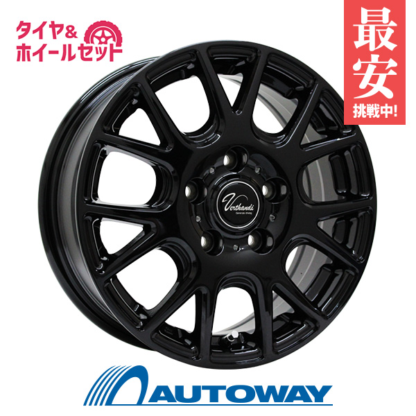 205/60R15 サマータイヤ タイヤホイールセット  Verthandi YH-M7 15x6 +50 114.3x5 BLACK + N729.RWL 【送料無料】 (205/60/15 205-60-15 205/60-15) 夏タイヤ 15インチ