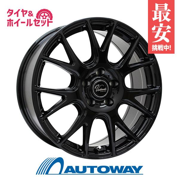 205/40R17 サマータイヤ タイヤホイールセット  Verthandi YH-M7 17x7 +38 114.3x5 BLACK + F205 【送料無料】 (205/40/17 205-40-17 205/40-17) 夏タイヤ 17インチ