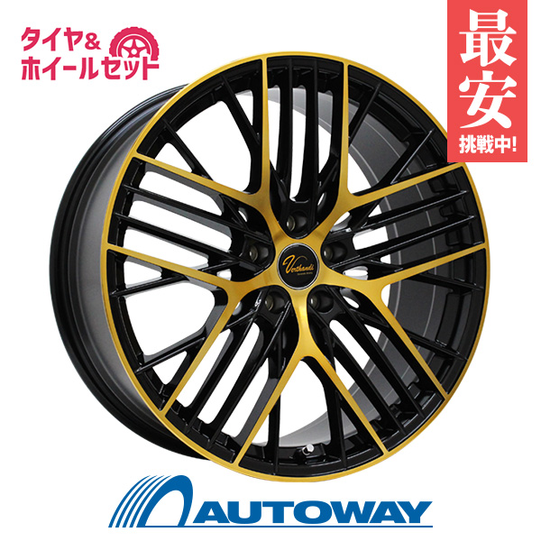 205/45R17 サマータイヤ タイヤホイールセット  Verthandi YH-MS30 17x7 +48 100x5 BKP+GC + HF805 【送料無料】 (205/45/17 205-45-17 205/45-17) 夏タイヤ 17インチ
