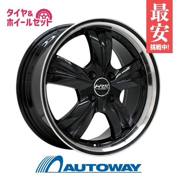 205/45R16 サマータイヤ タイヤホイールセット  HRS CLASSIC H-C46 16x7 +40 100x4 BK/PJ + AR-1 【送料無料】 (205/45/16 205-45-16 205/45-16) 夏タイヤ 16インチ